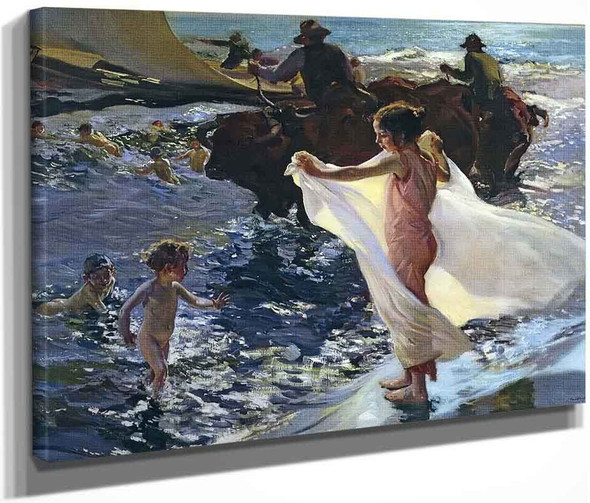 Bathing Time By Joaquin Sorolla Y Bastida