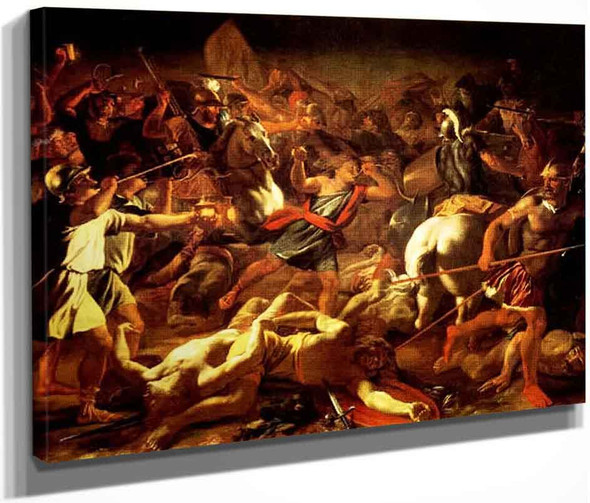 Battle Of Gideon Against The Midianites By Nicolas Poussin By Nicolas Poussin