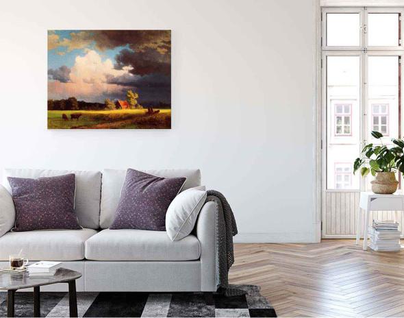 Bavarian Landscape By Albert Bierstadt By Albert Bierstadt