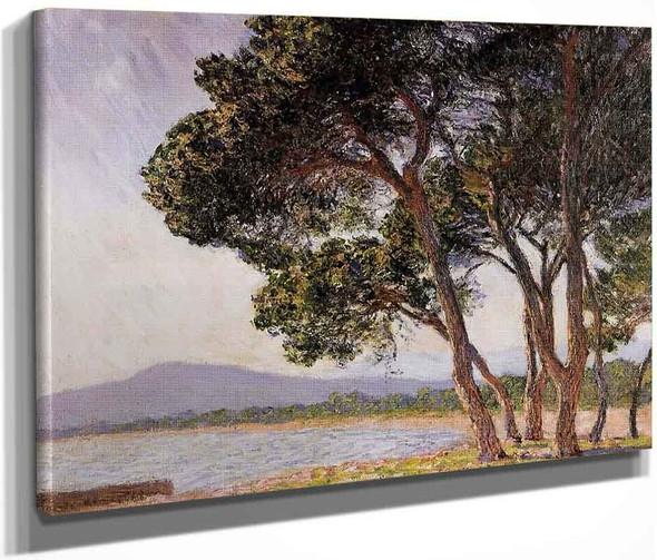 Beach In Juan Les Pins By Claude Oscar Monet