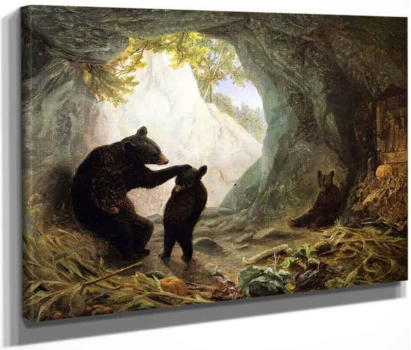 Bear And Cubs By William Holbrook Beard By William Holbrook Beard