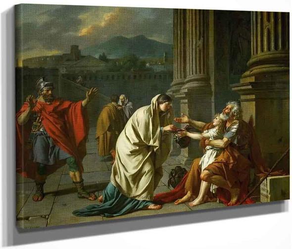 Belisarius Receiving Alms  By Jacques Louis David By Jacques Louis David