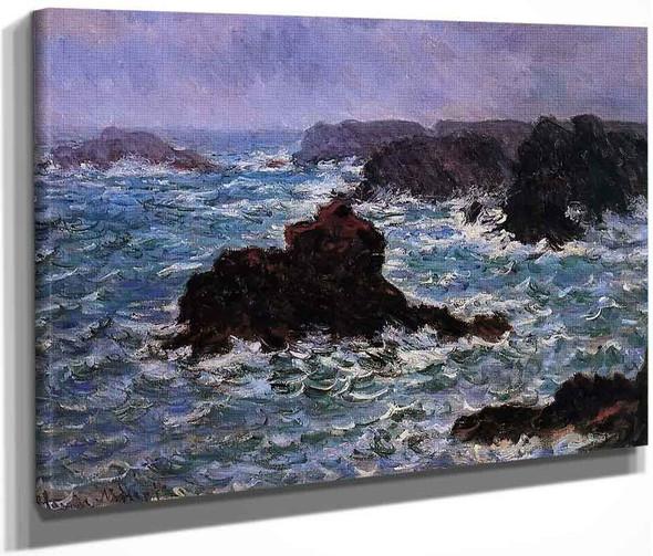 Belle Ile, Rain Effect By Claude Oscar Monet