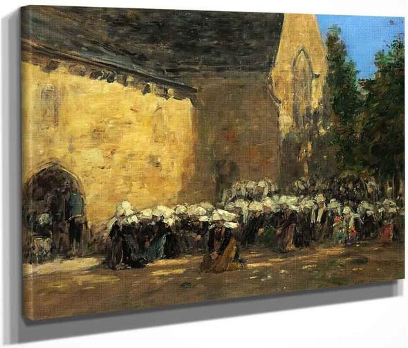 Benodet, Un Pardon By Eugene Louis Boudin By Eugene Louis Boudin