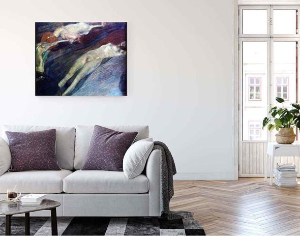 Bewegte Wasser By Gustav Klimt By Gustav Klimt