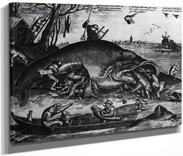 Big Fishes Eat Little Fishes By Pieter Bruegel The Elder By Pieter Bruegel The Elder