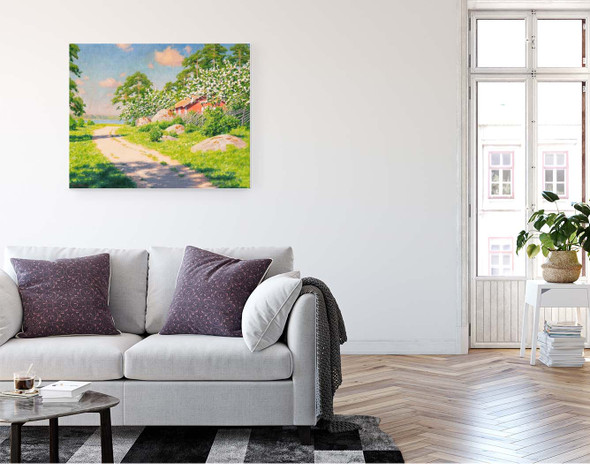 Blooming Fruit Trees By Johan Krouthen By Johan Krouthen