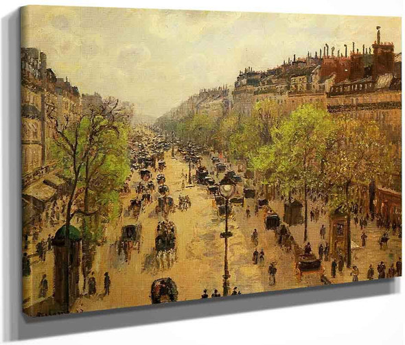 Boulevard Montmartre Spring1 By Camille Pissarro By Camille Pissarro