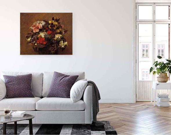 Bouquet Of Flowerspansies By Henri Fantin Latour By Henri Fantin Latour