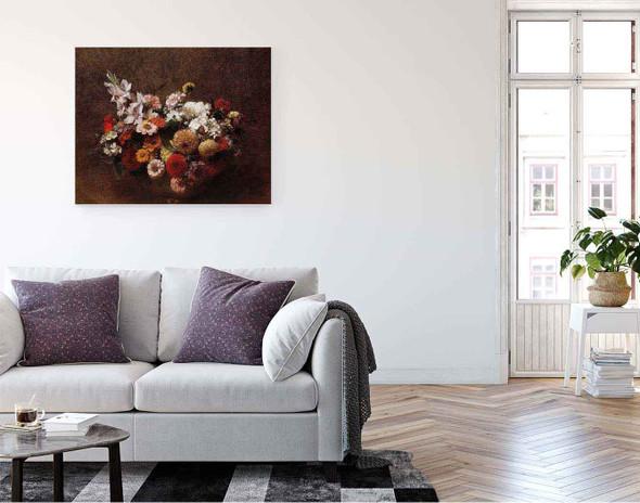Bouquet Of Flowers By Henri Fantin Latour By Henri Fantin Latour