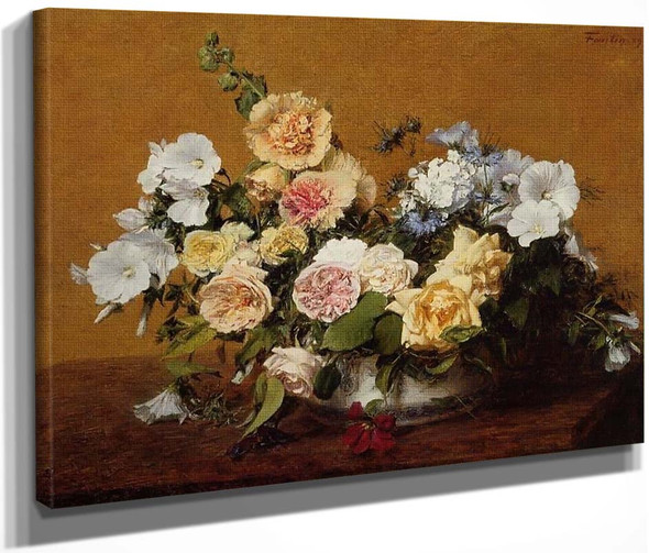 Bouquet Of Roses And Other Flowers By Henri Fantin Latour By Henri Fantin Latour