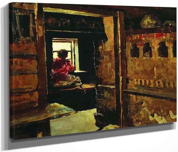 Boy At The Window By Sergei Arsenevich Vinogradov Russian 1869 1938