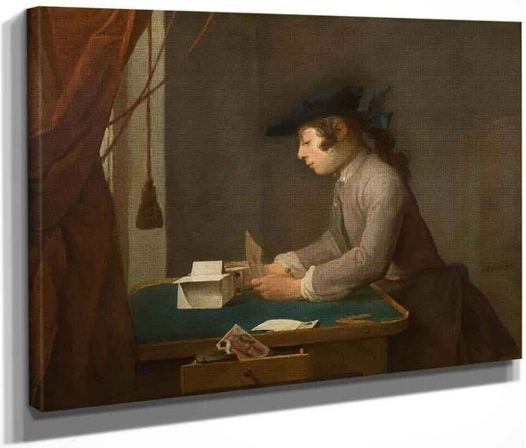 Boy Building A House Of Cards By Jean Baptiste Simeon Chardin By Jean Baptiste Simeon Chardin