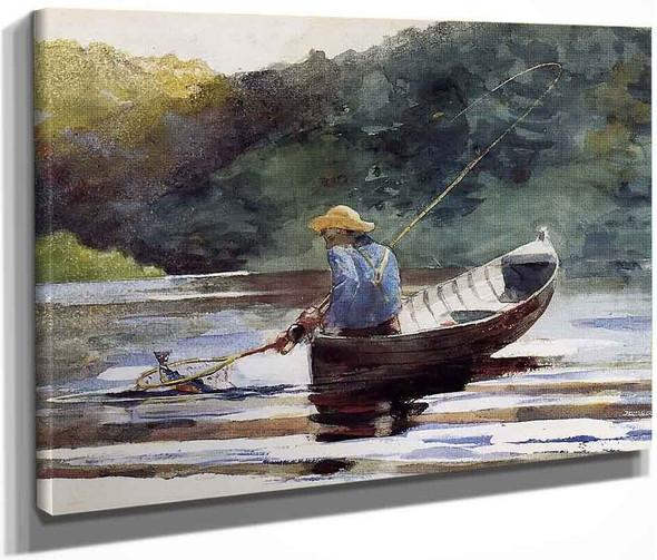 Boy Fishing By Winslow Homer
