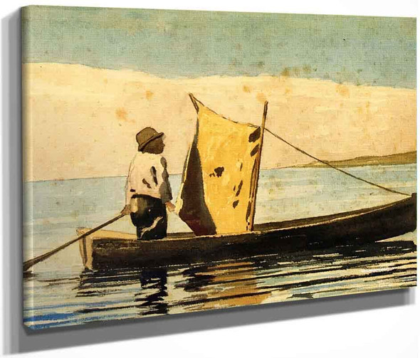 Boy In A Small Boat By Winslow Homer