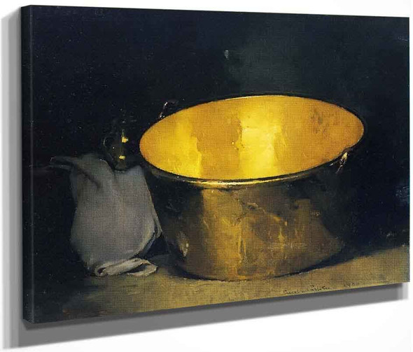 Brass And Copper By Emil Carlsen By Emil Carlsen