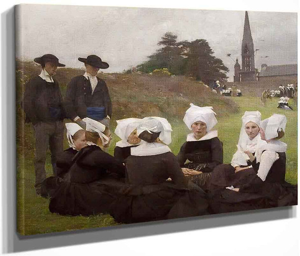 Breton Women At A Pardon By Pascal Dagnan Bouveret