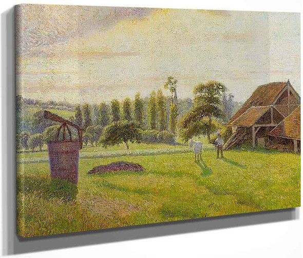Brickworks At Eragny By Camille Pissarro By Camille Pissarro