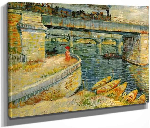 Bridges Across The Seine At Asnieres By Vincent Van Gogh