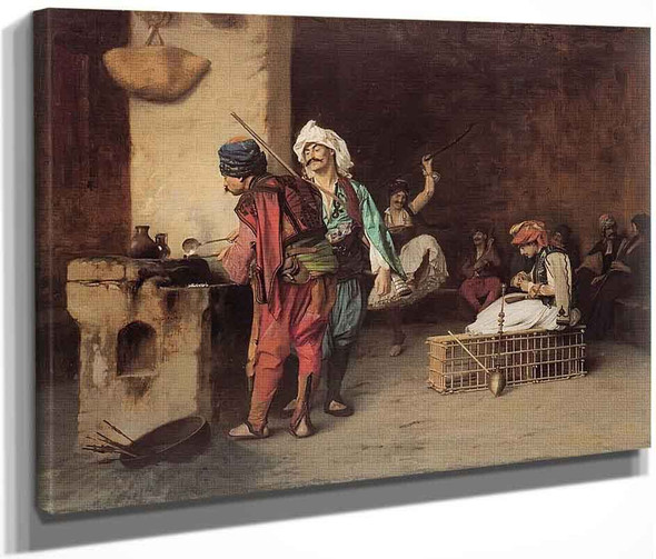 Cafe House, Cairo  By Jean Leon Gerome  By Jean Leon Gerome