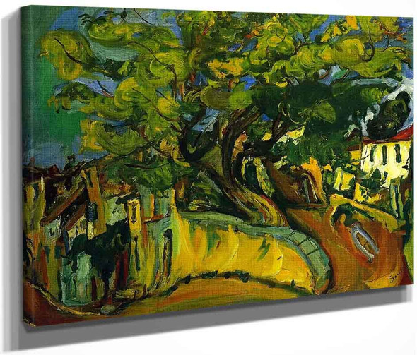 Cagnes Landscape With Tree By Chaim Soutine