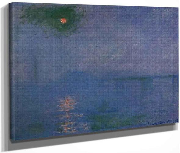 Charing Cross Bridge, Fog On The Thames By Claude Oscar Monet