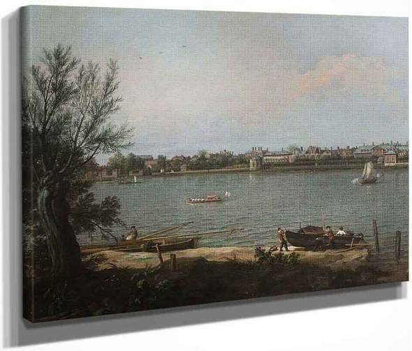 Chelsea From The Thames At Battersea Reach By Canaletto By Canaletto