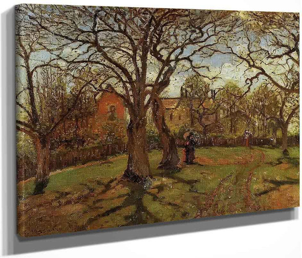 Chestnut Trees, Louveciennes, Spring By Camille Pissarro By Camille Pissarro