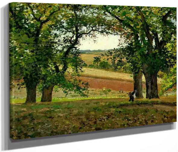Chestnut Trees At Osny By Camille Pissarro By Camille Pissarro