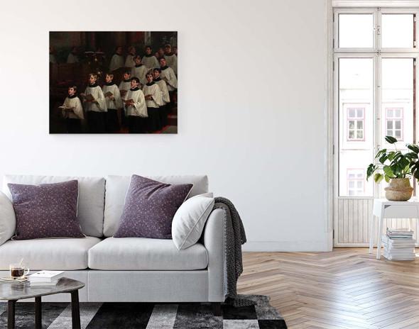 Choir Boys By William Morris Hunt  By William Morris Hunt