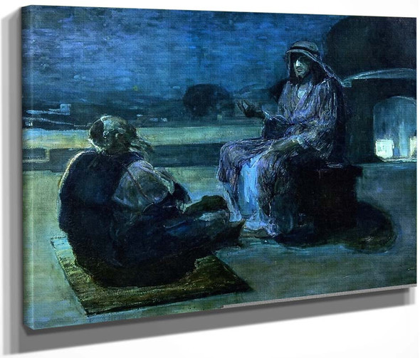 Christ And Nicodemus On A Rooftop By Henry Ossawa Tanner