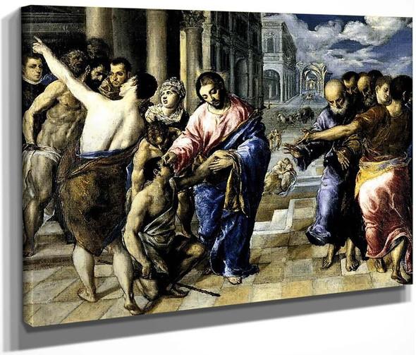 Christ Healing The Blind By El Greco By El Greco