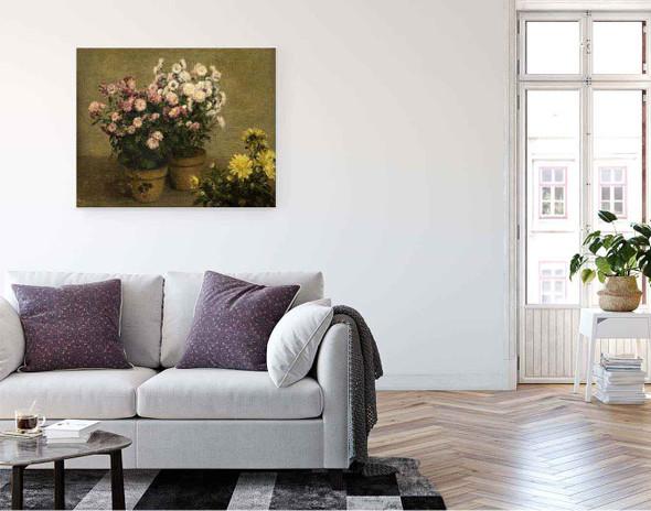Chrysanthemums 3 By Henri Fantin Latour By Henri Fantin Latour