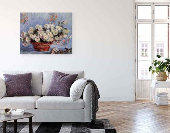 Chrysanthemums By Claude Oscar Monet