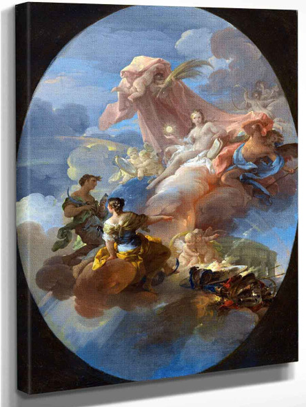 An Allegory Of The Vanquishing Of War By Truth, Hope And Prudence By Corrado Giaquinto By Corrado Giaquinto