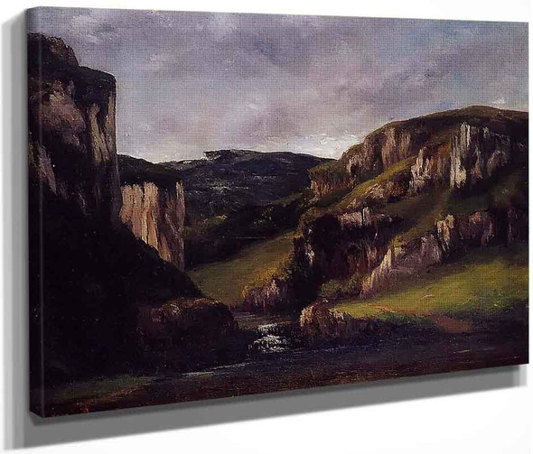 Cliffs Near Ornans By Gustave Courbet By Gustave Courbet