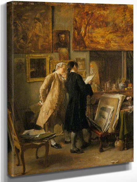 An Artist Showing His Work By Jean Louis Ernest Meissonier