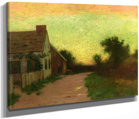 Cottage At Sunset By Bruce Crane