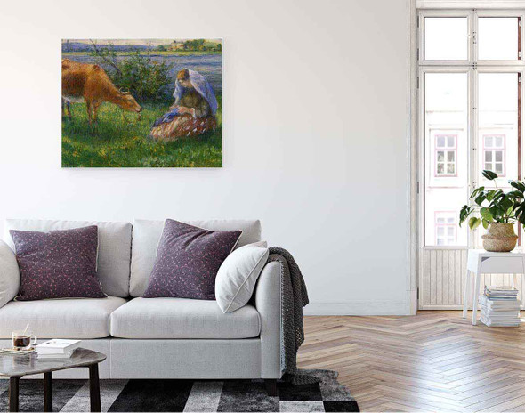 Cowherd, Pontoise By Camille Pissarro By Camille Pissarro