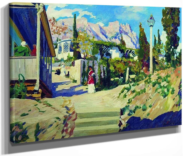 Crimean Landscape By Sergei Arsenevich Vinogradov Russian 1869 1938