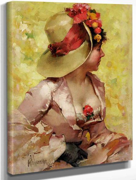 An Elegant Lady By Frederik Henrdik Kaemmerer