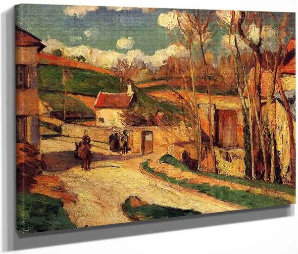 Crossroads At L'hermitage, Pontoise By Camille Pissarro By Camille Pissarro