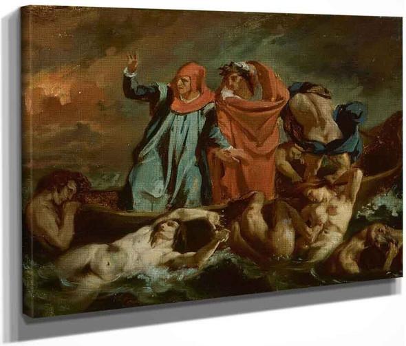 Dante's Barque By Eugene Delacroix By Eugene Delacroix