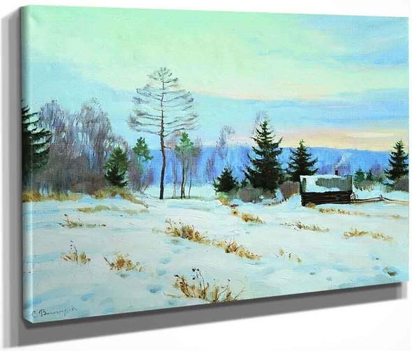 Early Spring Evening By Sergei Arsenevich Vinogradov Russian 1869 1938