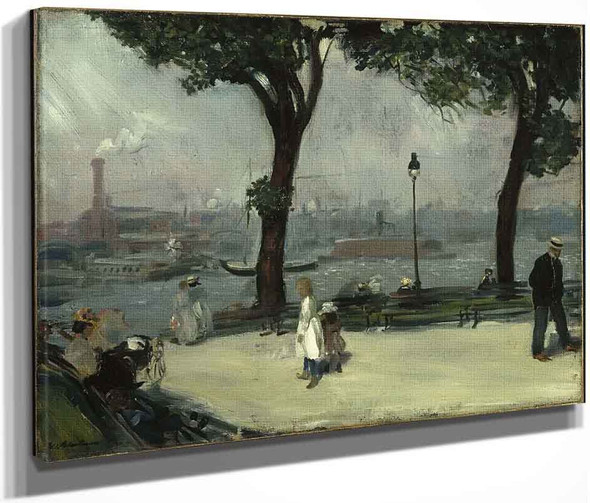 East River Park By William James Glackens  By William James Glackens