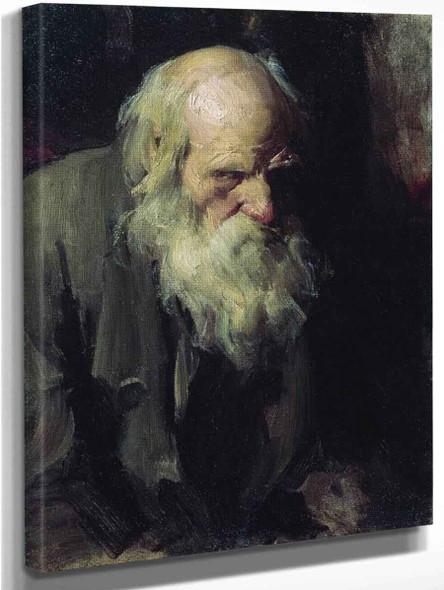 An Old Man By Abram Efimovich Arkhipov
