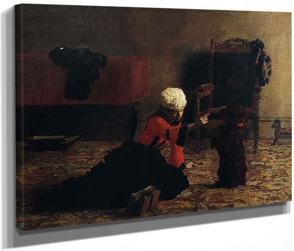 Elizabeth Crowell With A Dog By Thomas Eakins By Thomas Eakins