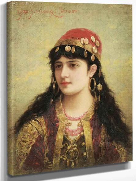 An Oriental Beauty1 By Emile Eisman Semenowsky