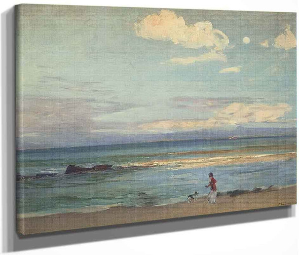 Evening On The Coast Of Spain, From Tangier By Sir John Lavery, R.A. By Sir John Lavery, R.A.