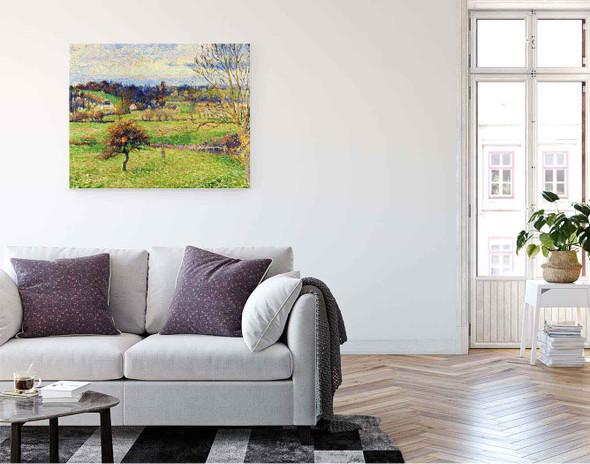 Field At Eragny By Camille Pissarro By Camille Pissarro